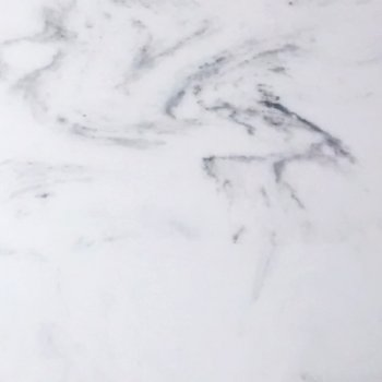 White with Black cultured marble color sample